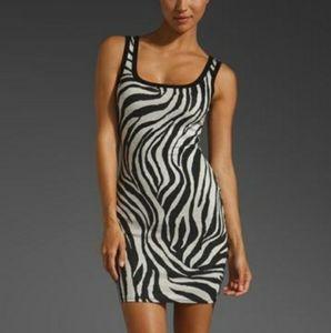 Bailey 44 White Tiger Knit Tank Dress Large
